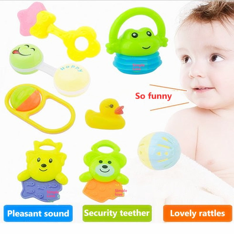 Baby Teether Cute Cartoon Rattles Teethers Infant Training Tooth Bell Toys - Buy Babby