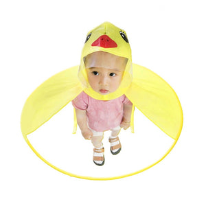 UFO Raincoat Umbrella Headwear Hat Cap Foldable Outdoor Child Adult Rain Coat Cover - Buy Babby