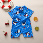 Baby Boys One-Piece Swimsuit polyester casual 3D Shark Sun Protection Bathing Suit - Buy Babby