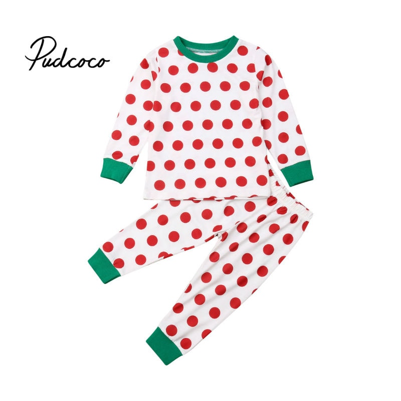 pudcoco 2019 New Christmas Baby set 2pcs Newborn Kids Baby Girls Boys Christmas Tops+ Dot Long Pants Outfits Set infant clothing - Buy Babby