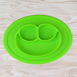 Silicone Smile Face Baby Feeding Placemat Food-Grade Non-Slip Tray Suction Plate - Buy Babby