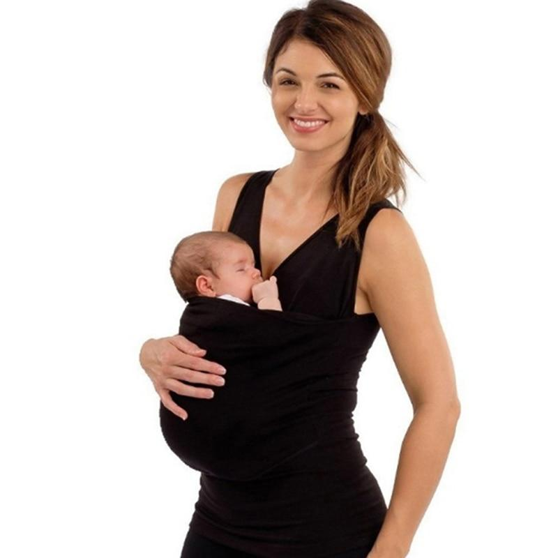 Sleeveless Buy Babby® Soothe T-Shirt for Dad & Mom hand Free Skin-to-Skin Kangaroo Baby Carriers Wrap - Buy Babby