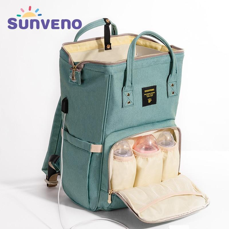Sunveno Fashion Mummy Diaper Bag Backpack, Quilted Large Capacity Mum Maternity Nursing Bag,Travel Backpack Stroller Baby Bag Nappy Baby Care - Buy Babby