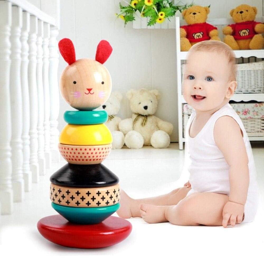 Toddler Kid Play Educational Stacking Wooden Tower - Buy Babby