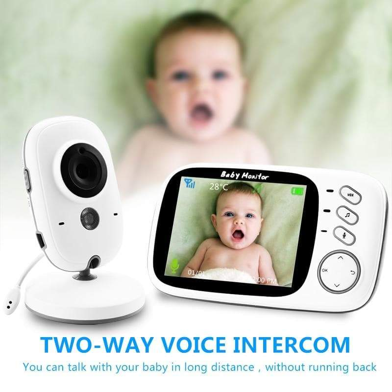 Video Baby Surveillance Monitor Wireless Camera ,LCD Digital Camera with Auto Infrared Night Vision, Power Saving, 2-Way Talk Back, Temperature Sensor Night Light, LCD Display, Lullabies - Buy Babby