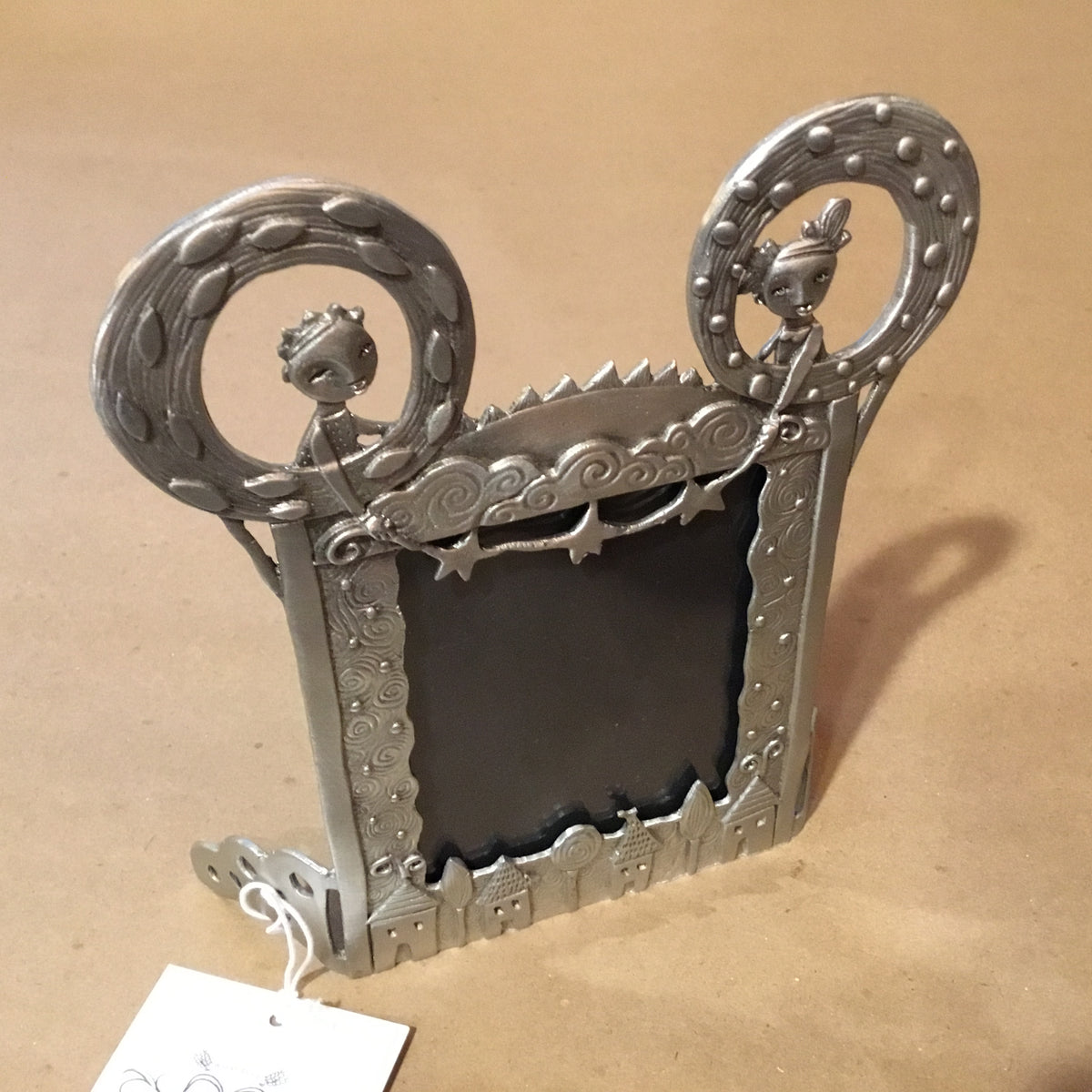 "Pewter Picture Frame - ""String of Stars"""