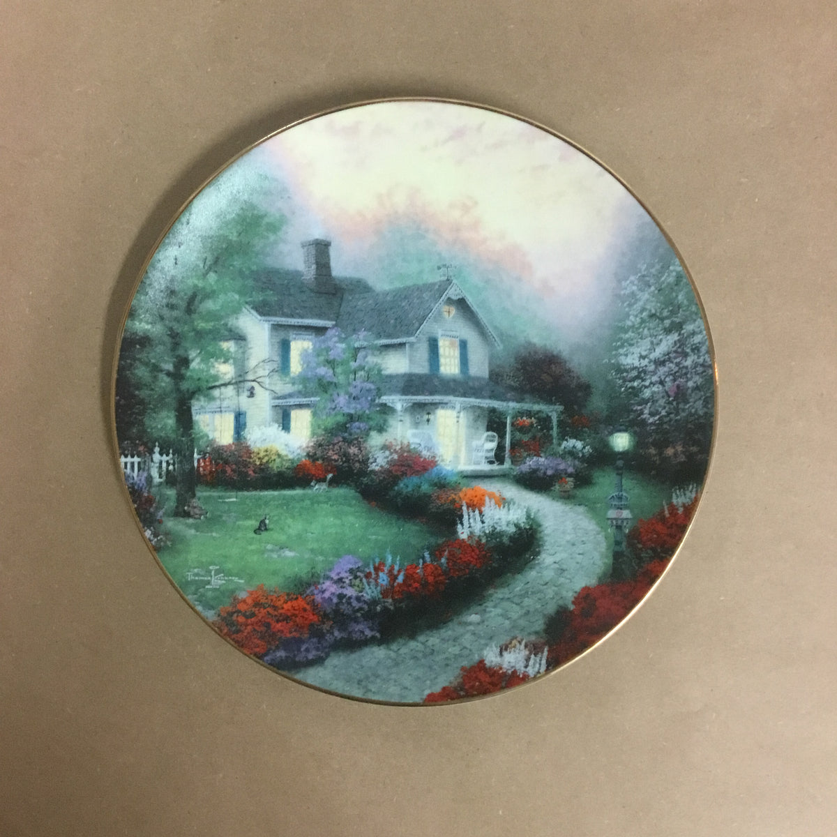 "Thomas Kinkade ""Home is Where the Heart Is"" Collectible Plate"