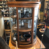 Vintage Round Glass Display Case