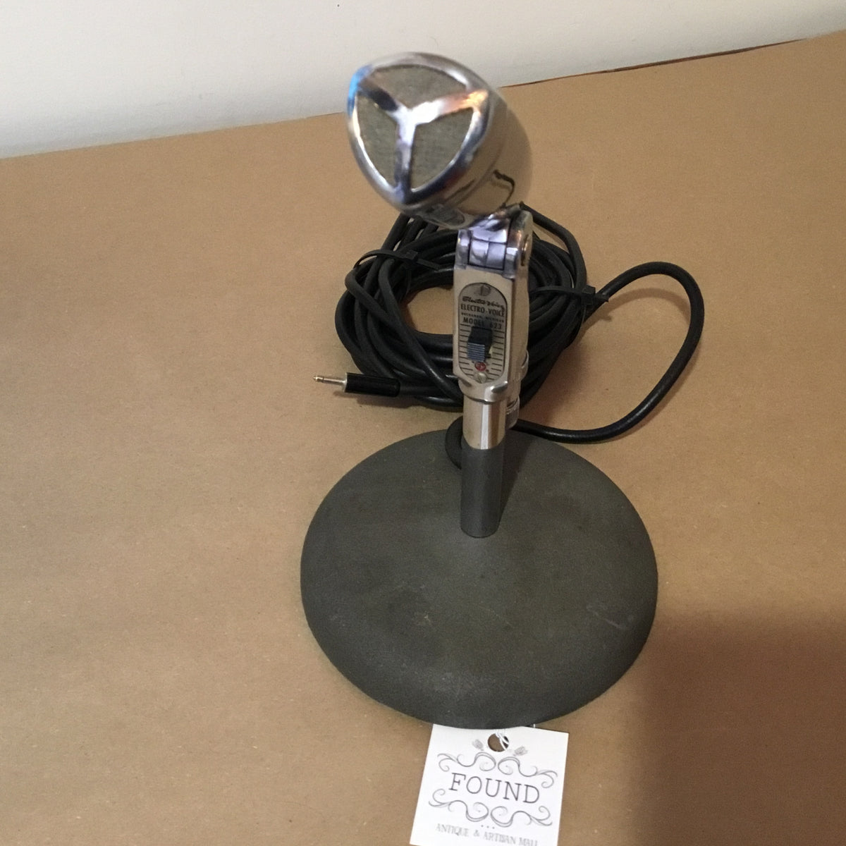 Vintage 1950's Electro-Voice 623 Microphone with Desk Stand