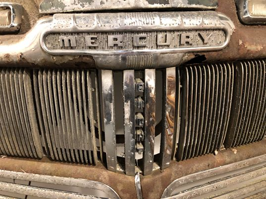 1946 Mercury Eight Front Grill w/ Lighted Headlights