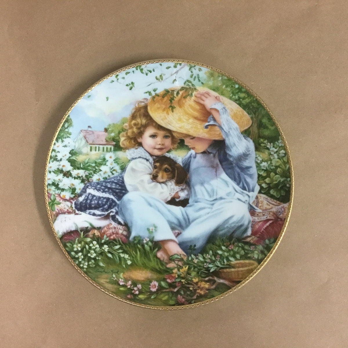 "Vintage Collectors Plate ""A Time To Love"" by Sandra Kuck 1989 Plate No 4190 B Bradex No 84-M89-1.2"