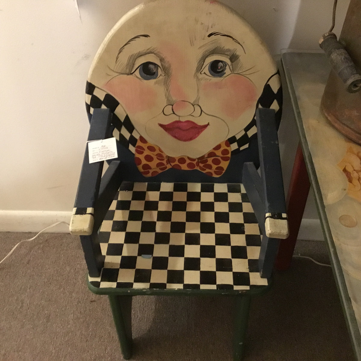 Humty Dumpty Childs play table with two chairs and book shelf