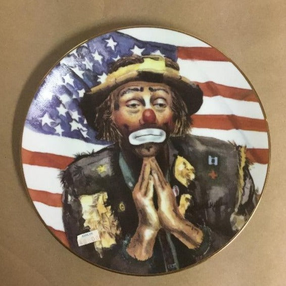 """And God Bless America"" collector plate by Charlotte Kelley"
