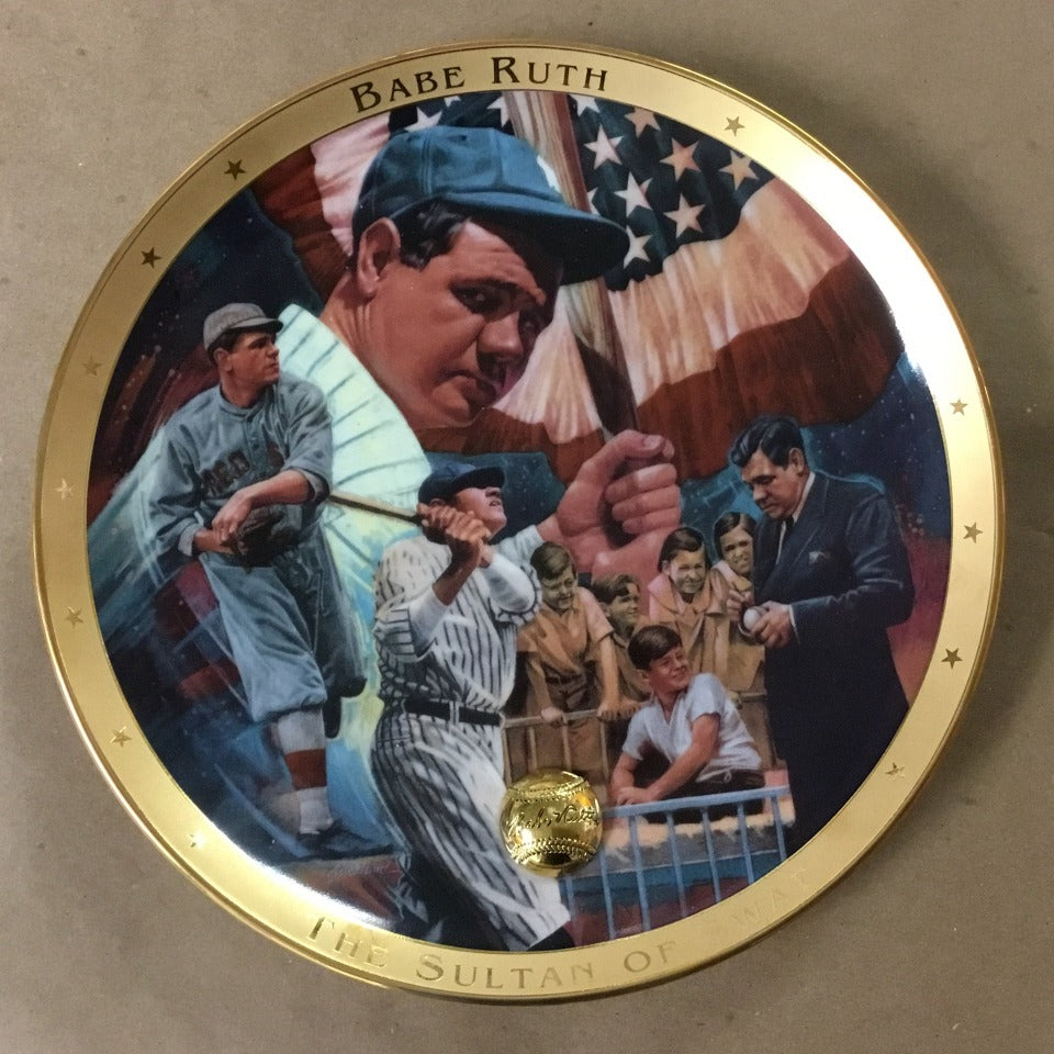 "Franklin Mint ""The Legendary Babe Ruth"" Plate"