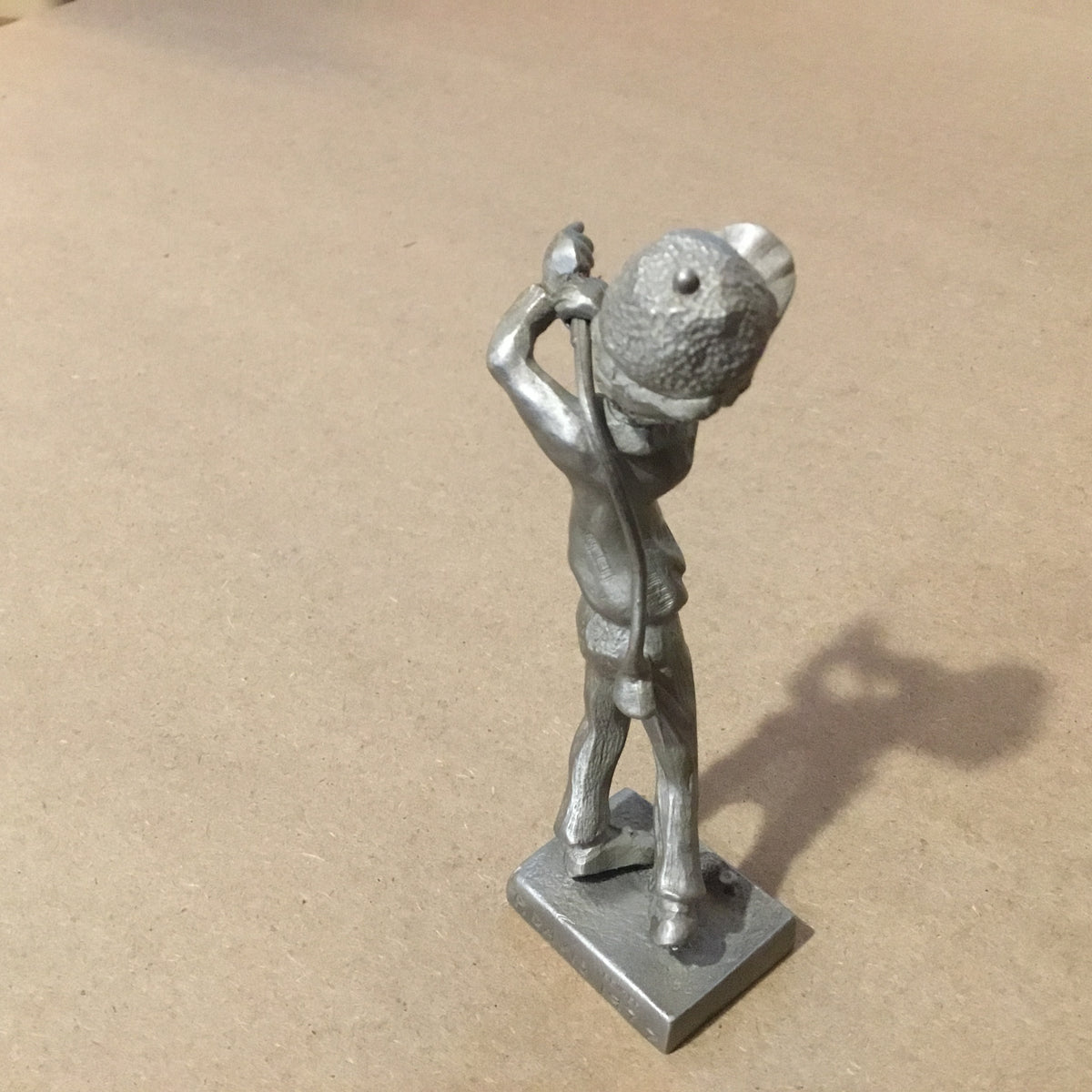 Pewter Golfer Figurine by P. Davis, 1977