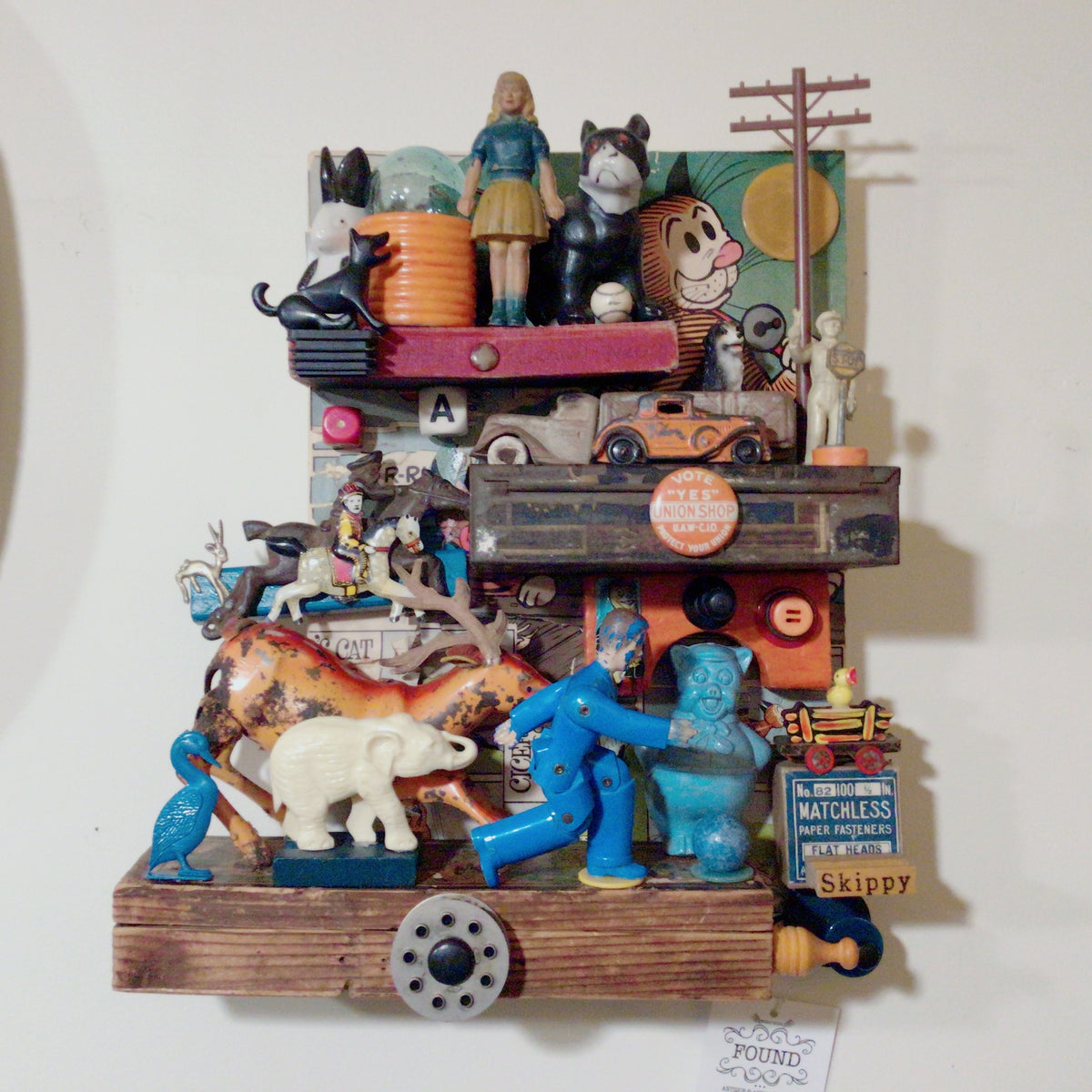 Assemblage Art - What's the Rush