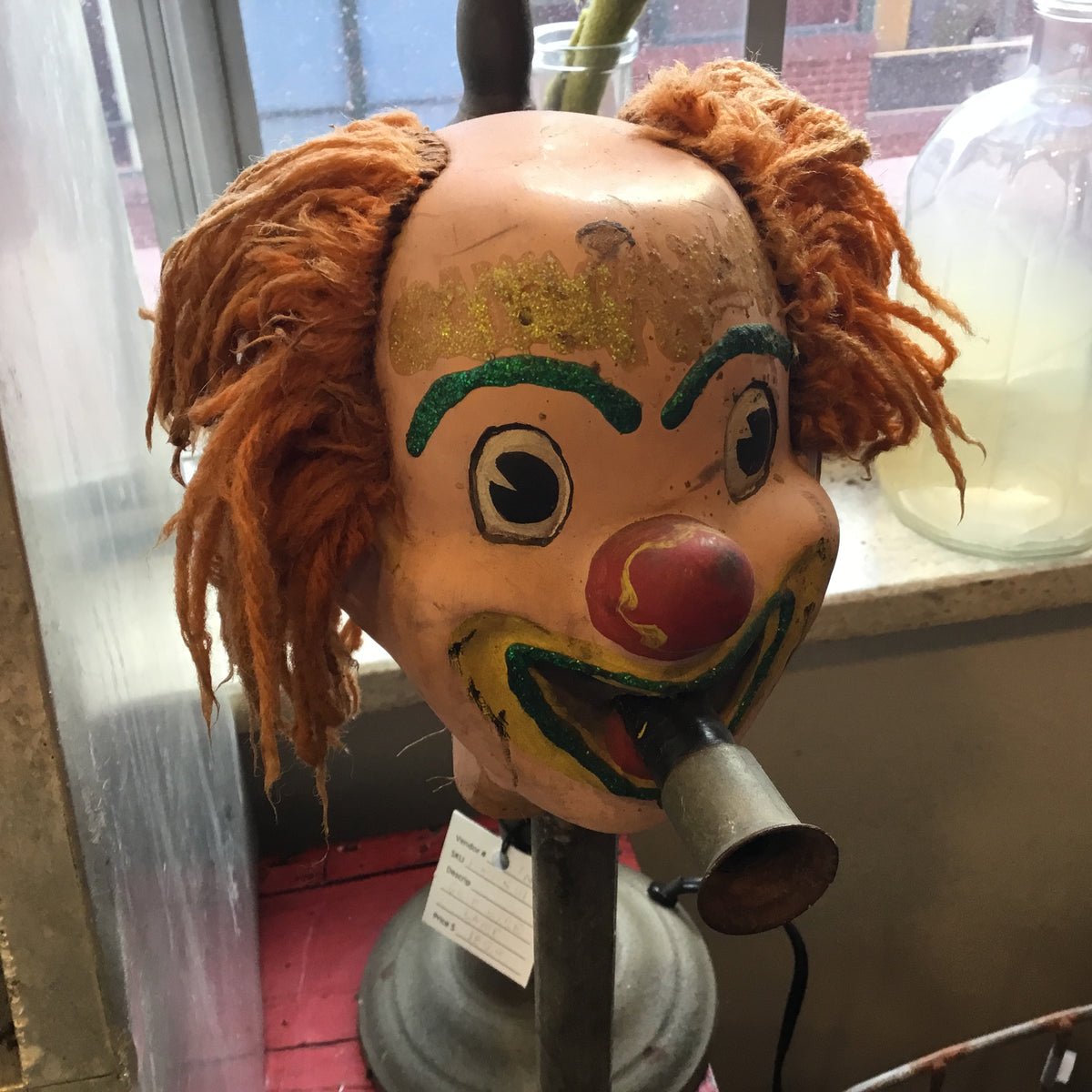 Vintage Carnival Clown on Stand