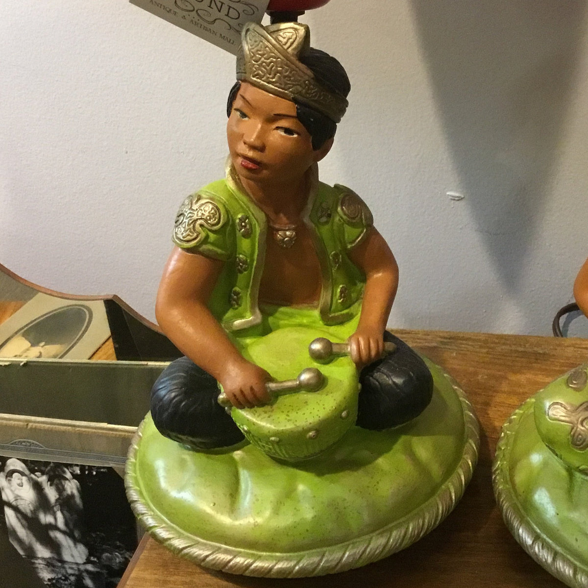 Chalkware Asian Lamps (pair)