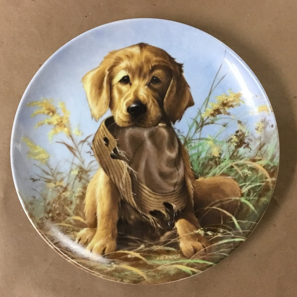 "Knowles Field Puppies Collection, 2nd Issue titled ""Caught in the Act - The Golden Retriever"""""