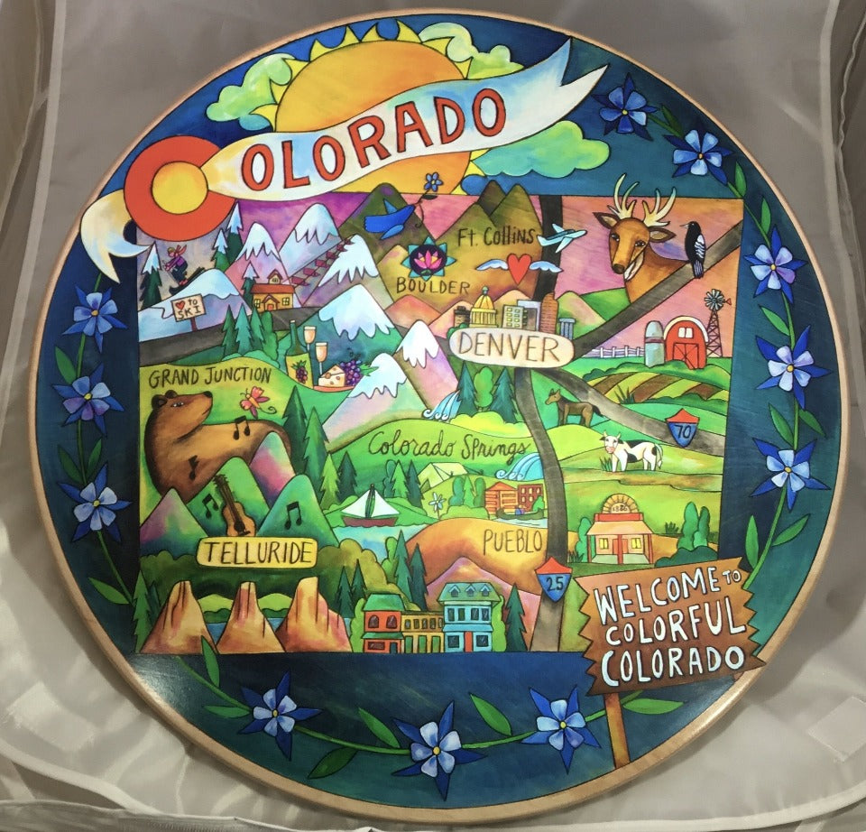 "18"" Lazy Susan - Colorado Rocky Mountain High"