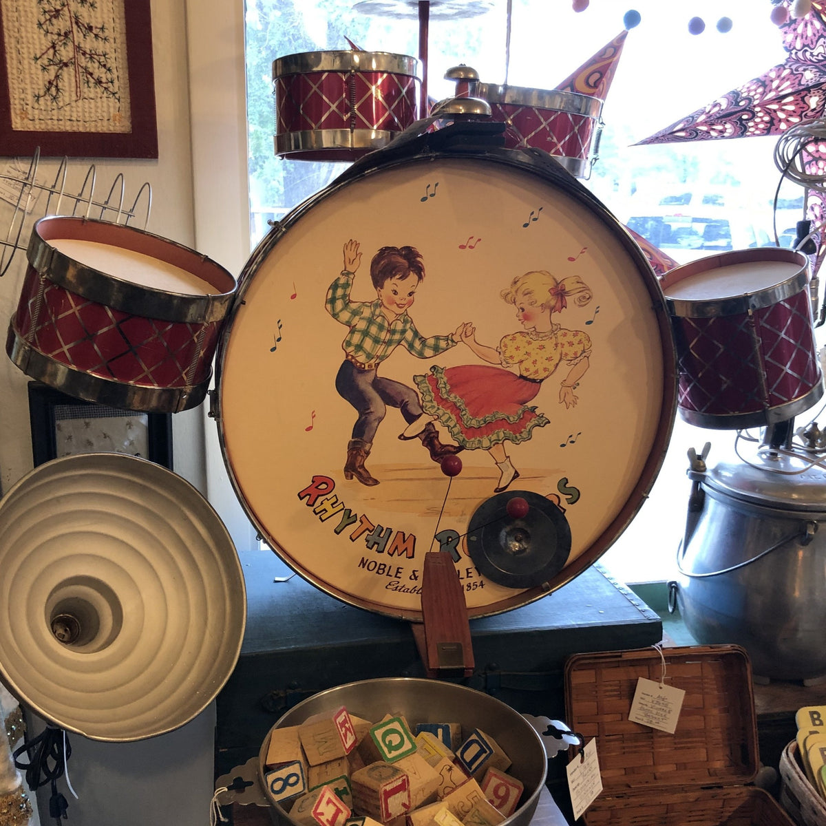 1950's Noble & Cooley Co. Toy Drum Set