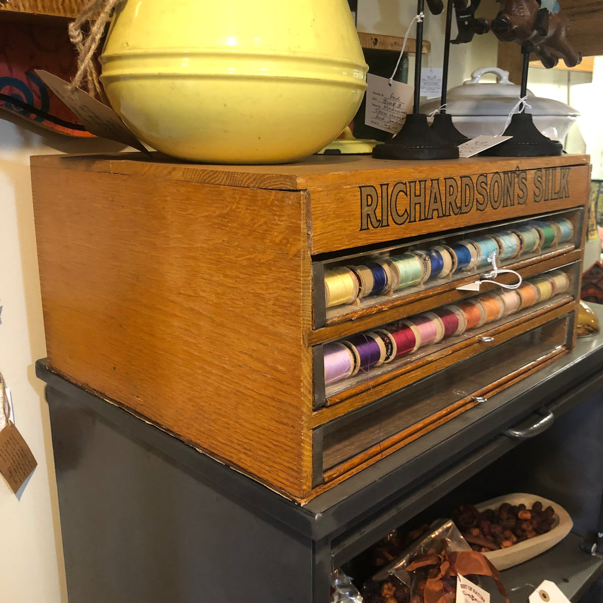 Richardson's Silk Spool Display Cabinet