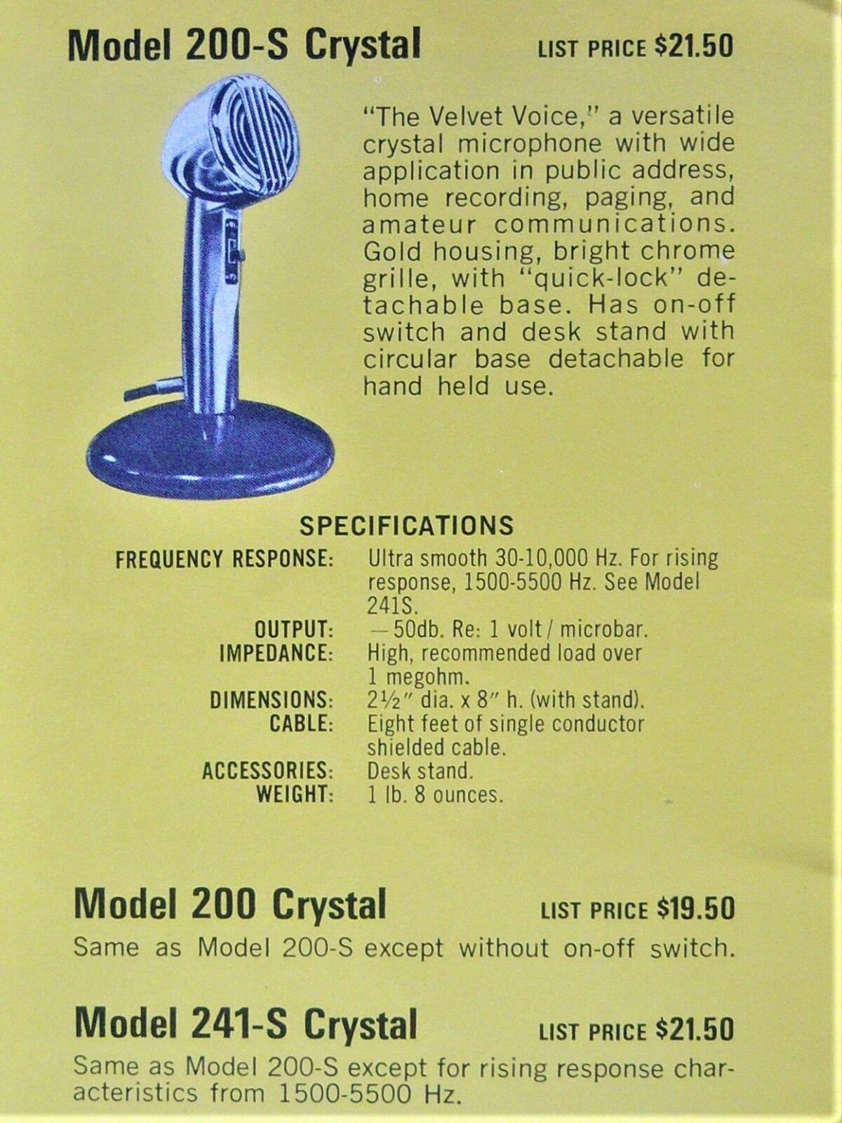 Astatic Model 200 Microphone