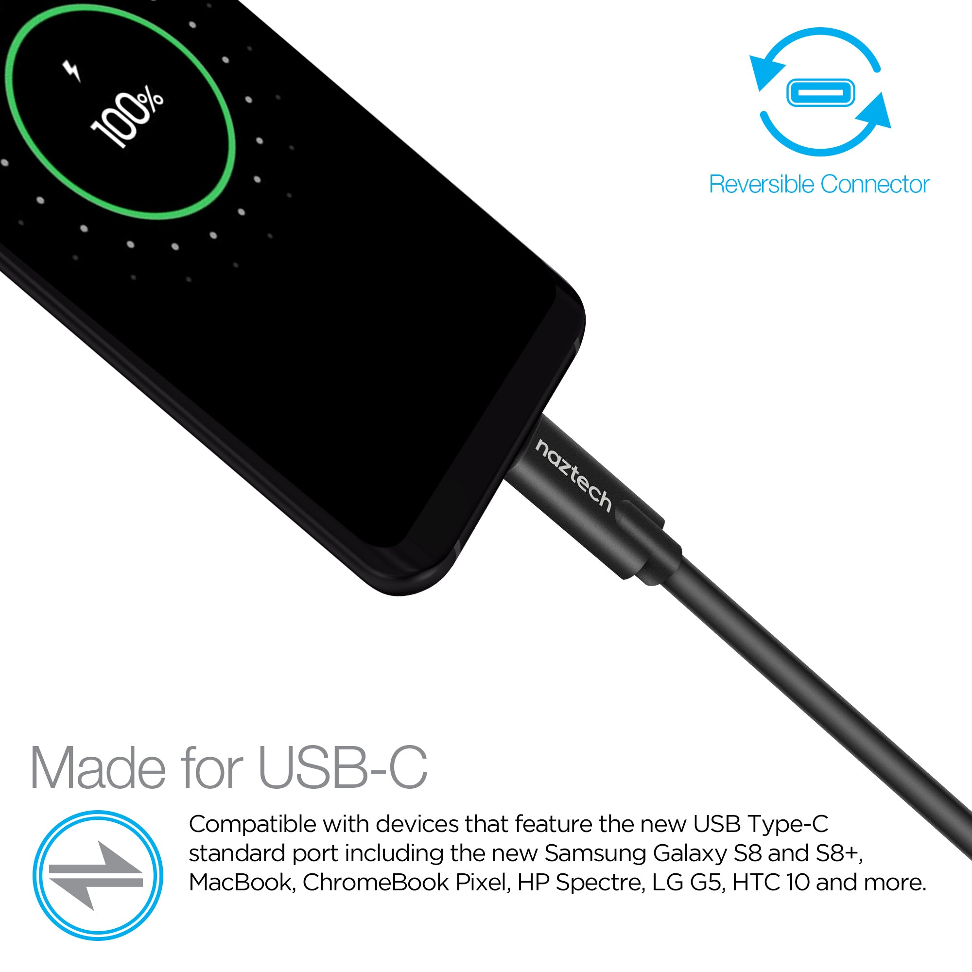 USB-C to USB-C Charge & Sync Cable