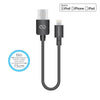 MFi Lightning® Charge & Sync USB Cable 6in/15cm