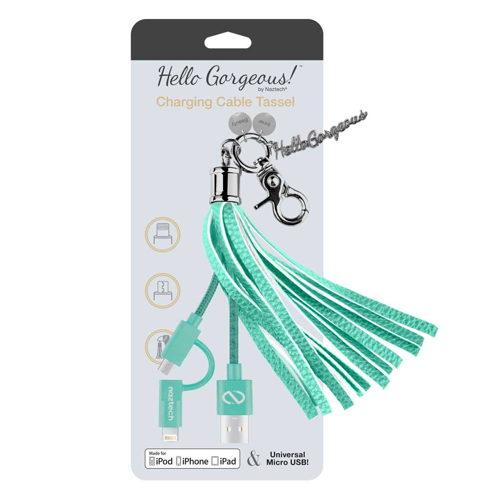 Hello Gorgeous Charging Cable Tassel