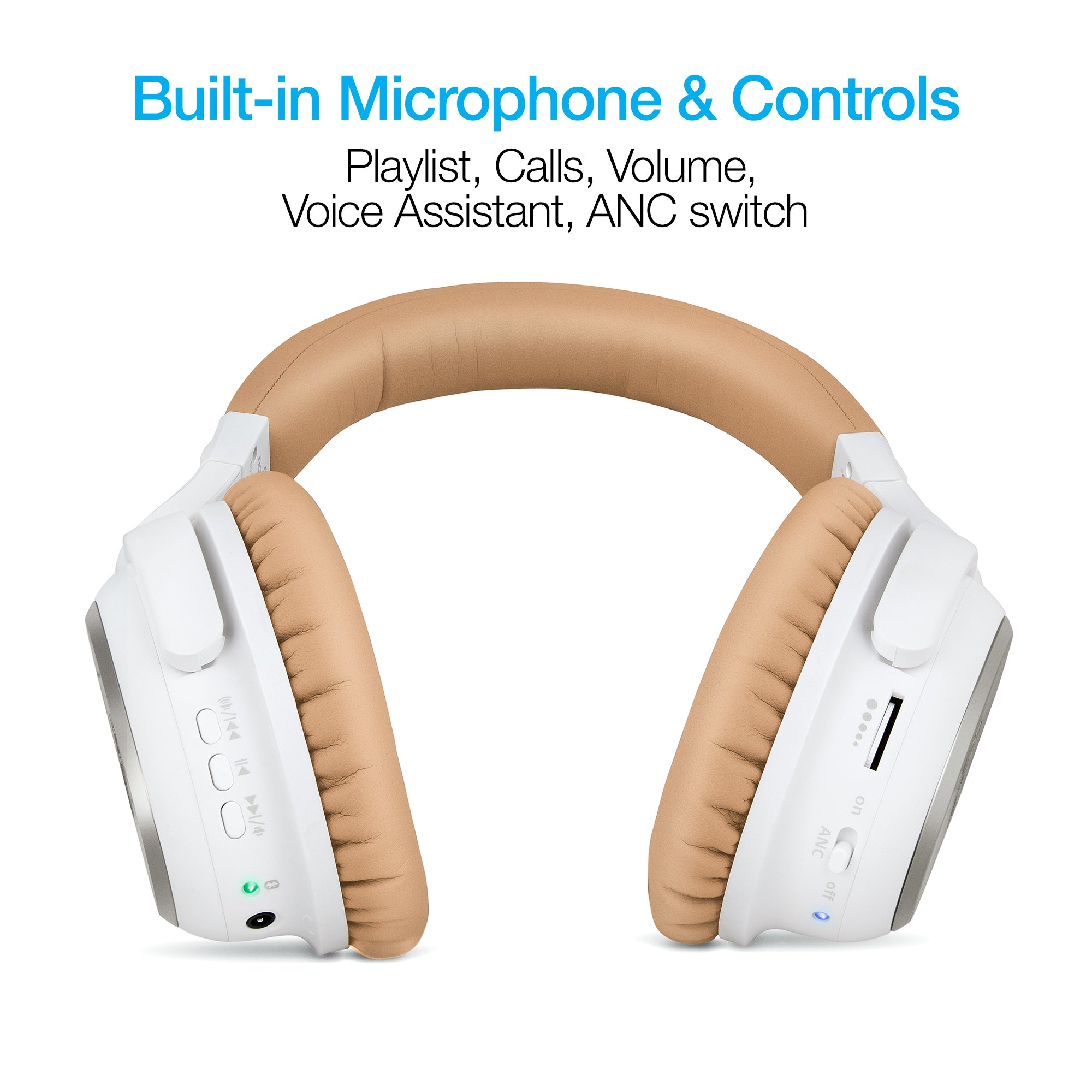 i9 Bluetooth® Active Noise Cancelling Headphones - Gold