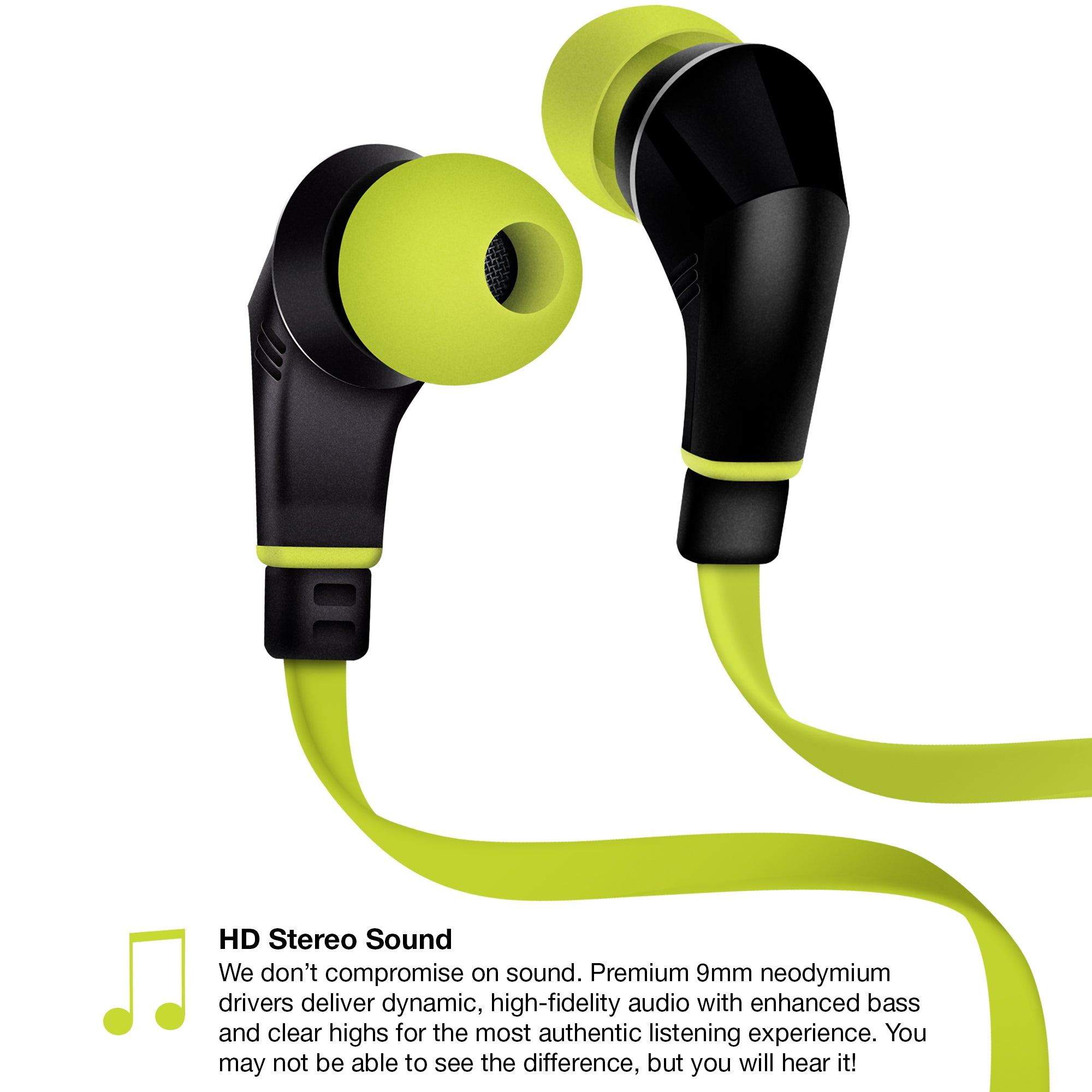 NX80W Wireless Earphones - Lime / Black