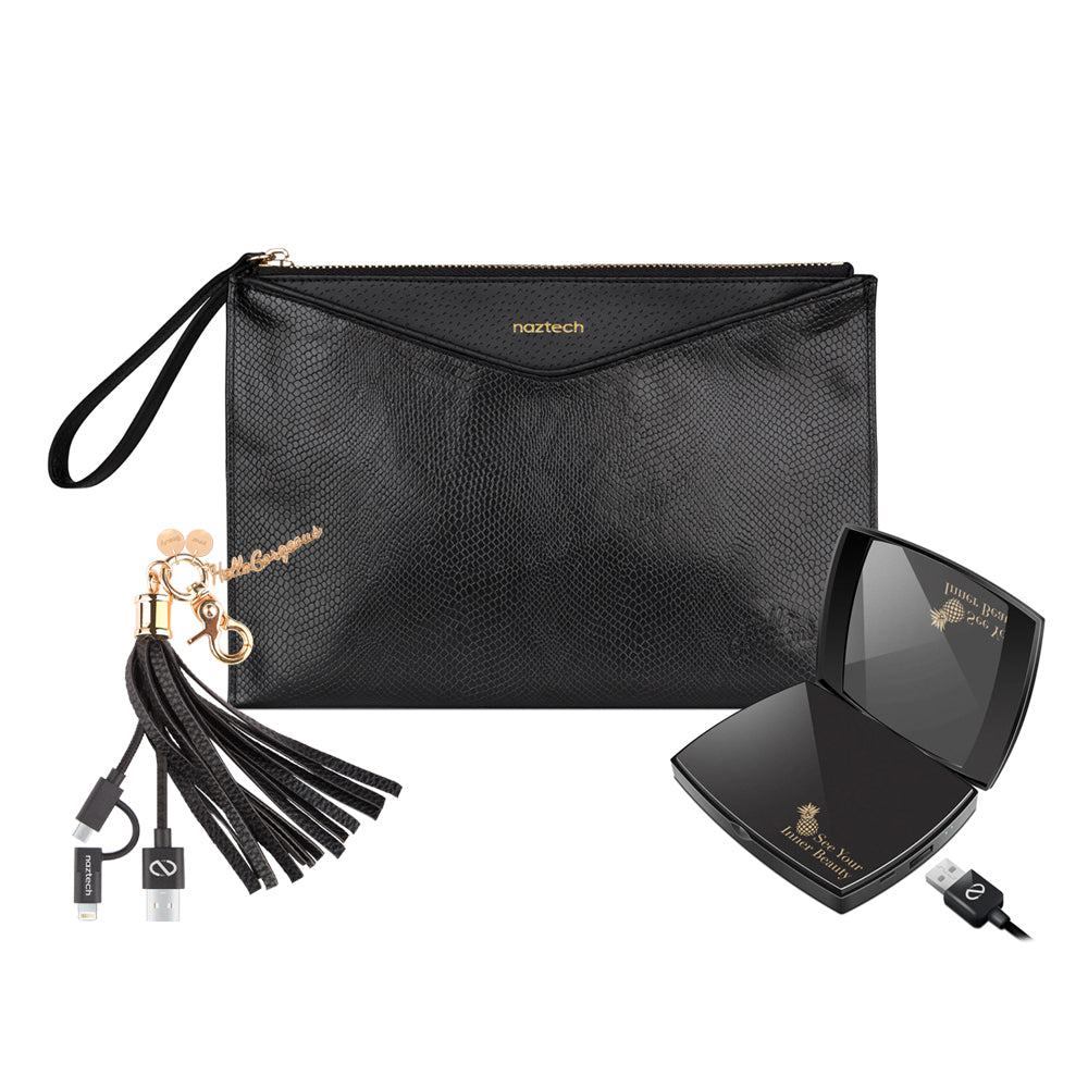 Hello Gorgeous Clutch, Charger Compact & Tassel
