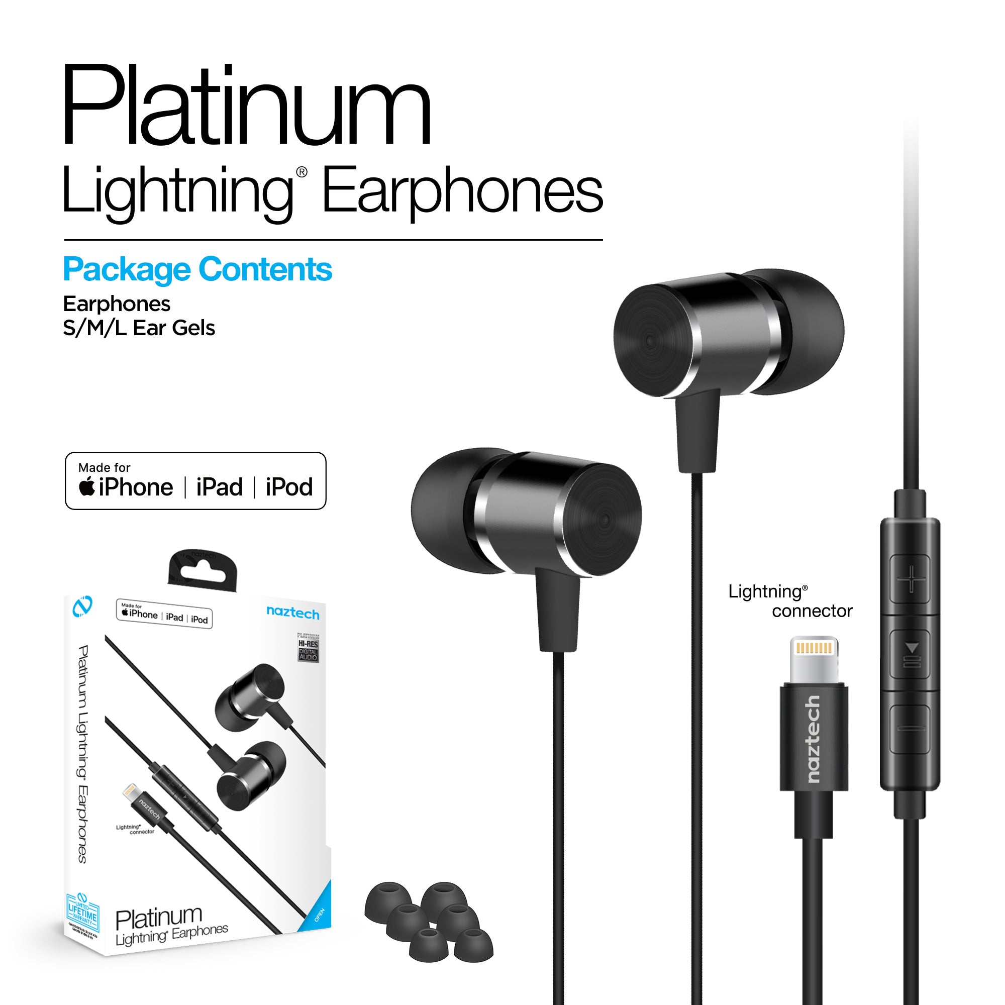 Platinum MFi Lightning Earphones