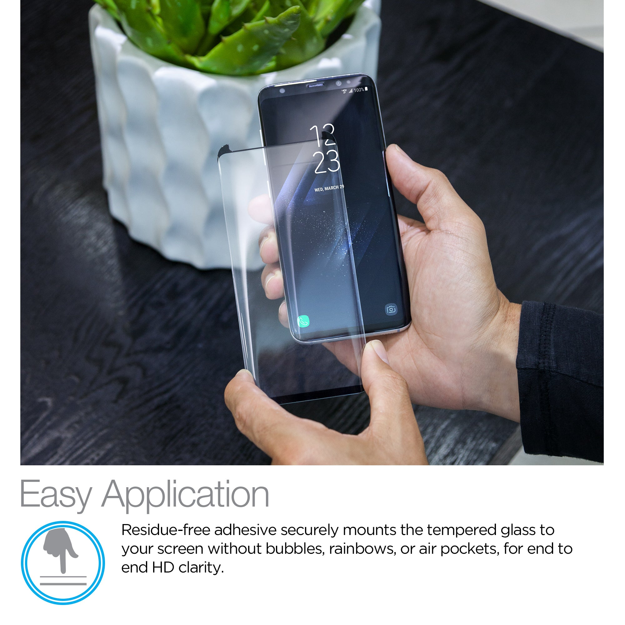 Premium HD Tempered Glass Screen Protector for Galaxy S8+