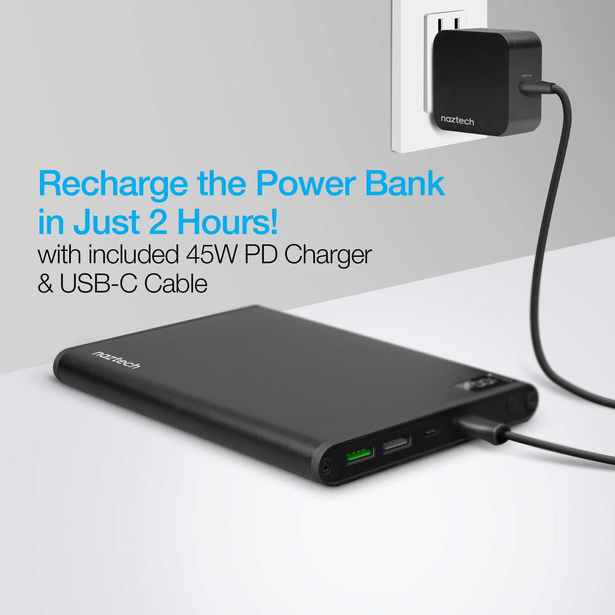 20000mAh Ultra-Thin 75W USB-C PD Laptop Power Bank
