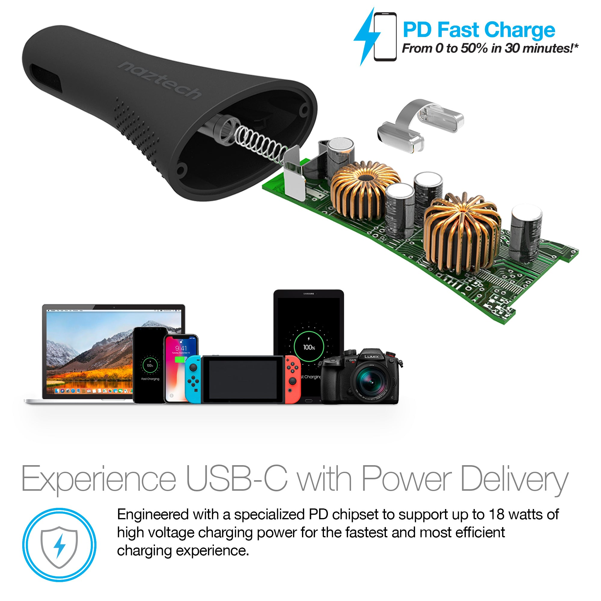 18W Power T3 Xtreme USB-C Power Delivery + Adaptive Fast Charge