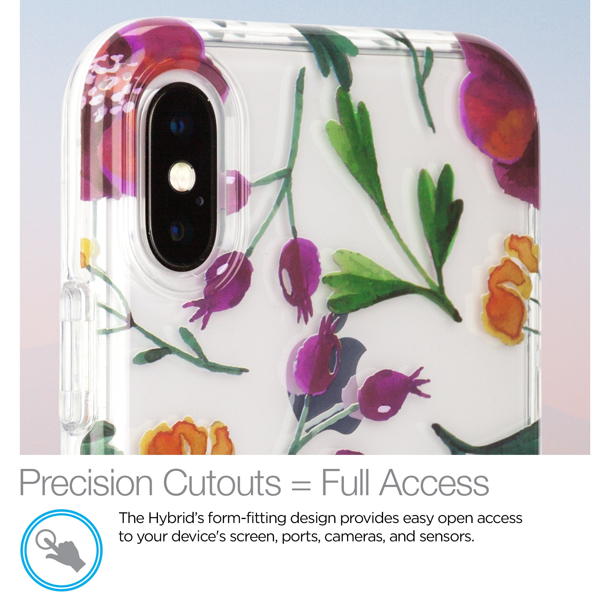 Hybrid PC + TPU Case Spring Series for iPhone X / XS
