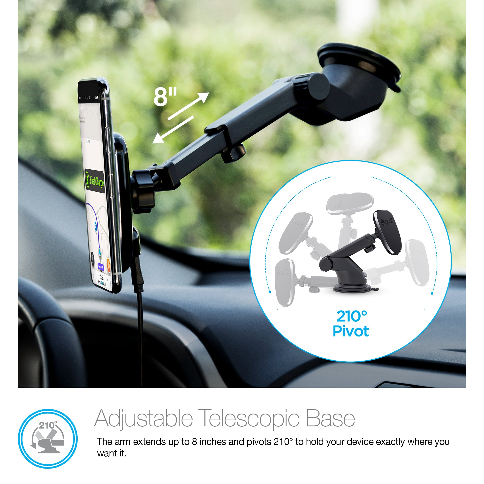 MagBuddy Wireless Charge Dash Mount
