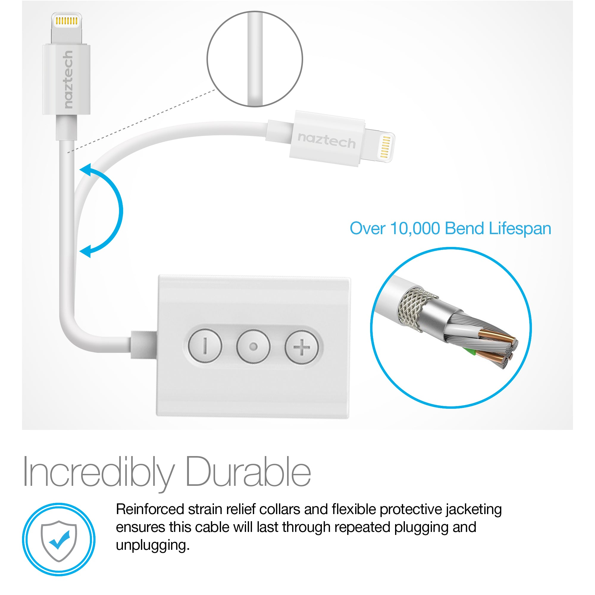 3.5mm Audio + Charge Adapter with Lightning Connector