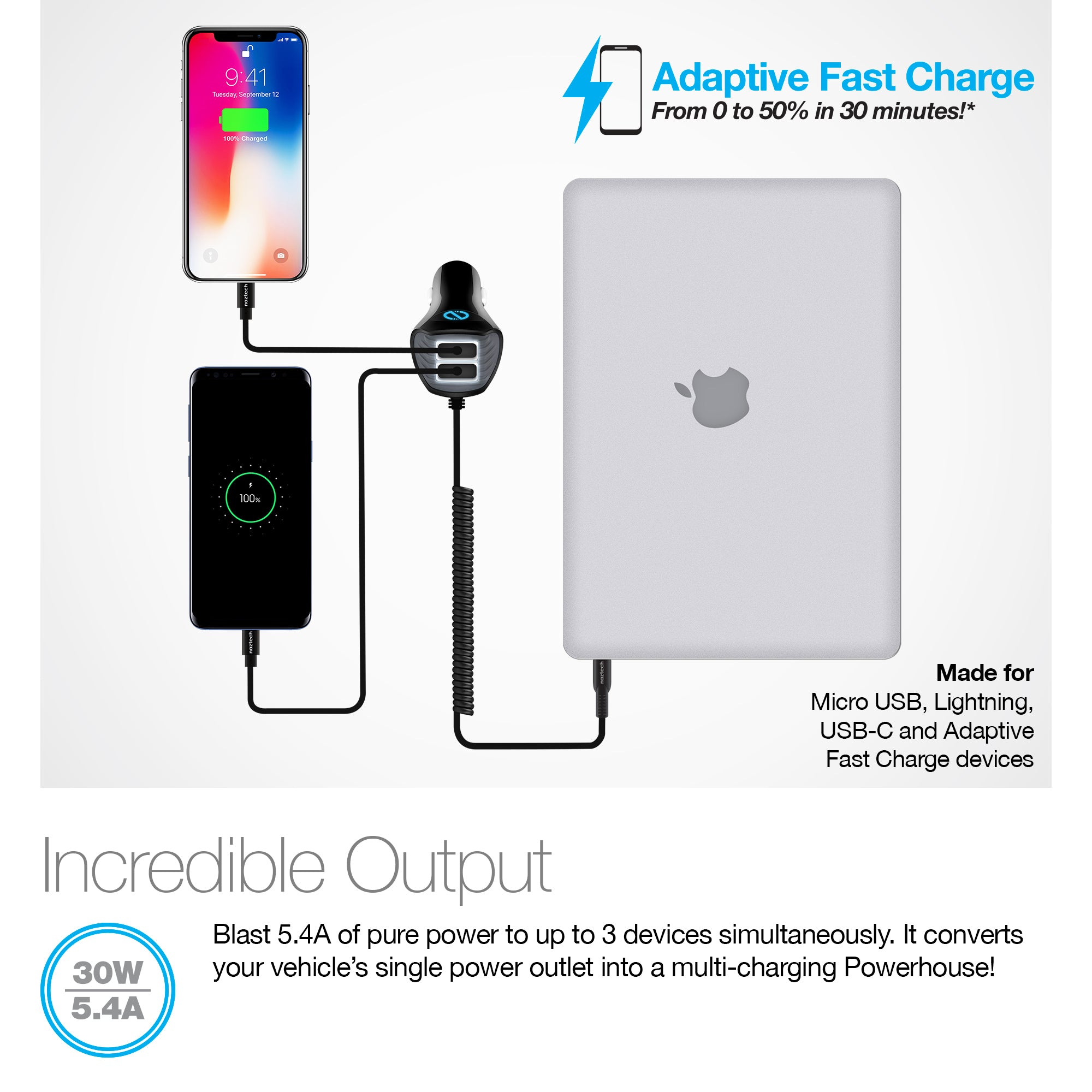 Corded TRiO USB-C Adaptive Fast Charger