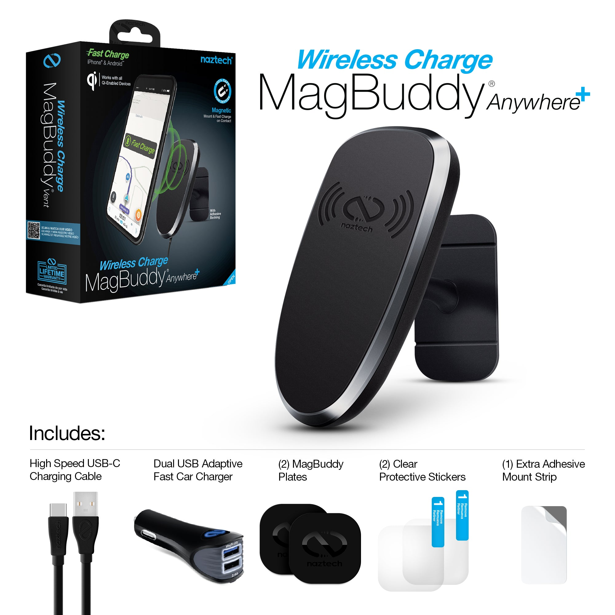 MagBuddy Wireless Charge Anywhere+ Mount
