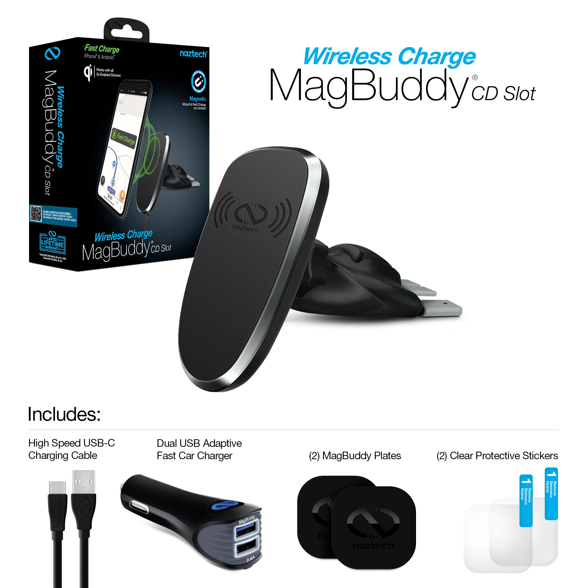 MagBuddy Wireless Charge CD Slot