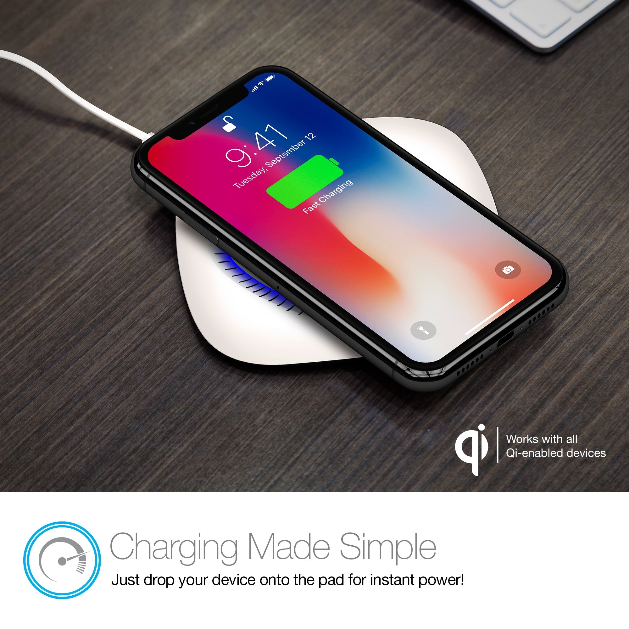 Power Pad Qi Wireless Fast Charger