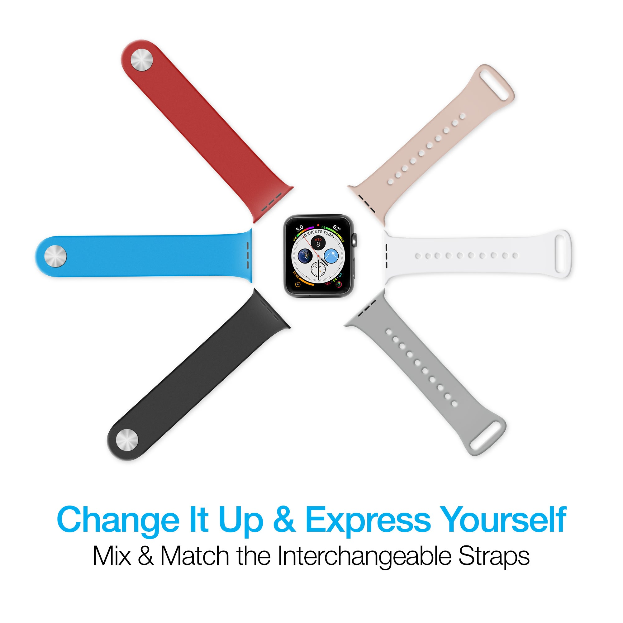 Silicone Band for Apple Watch (42/44mm)