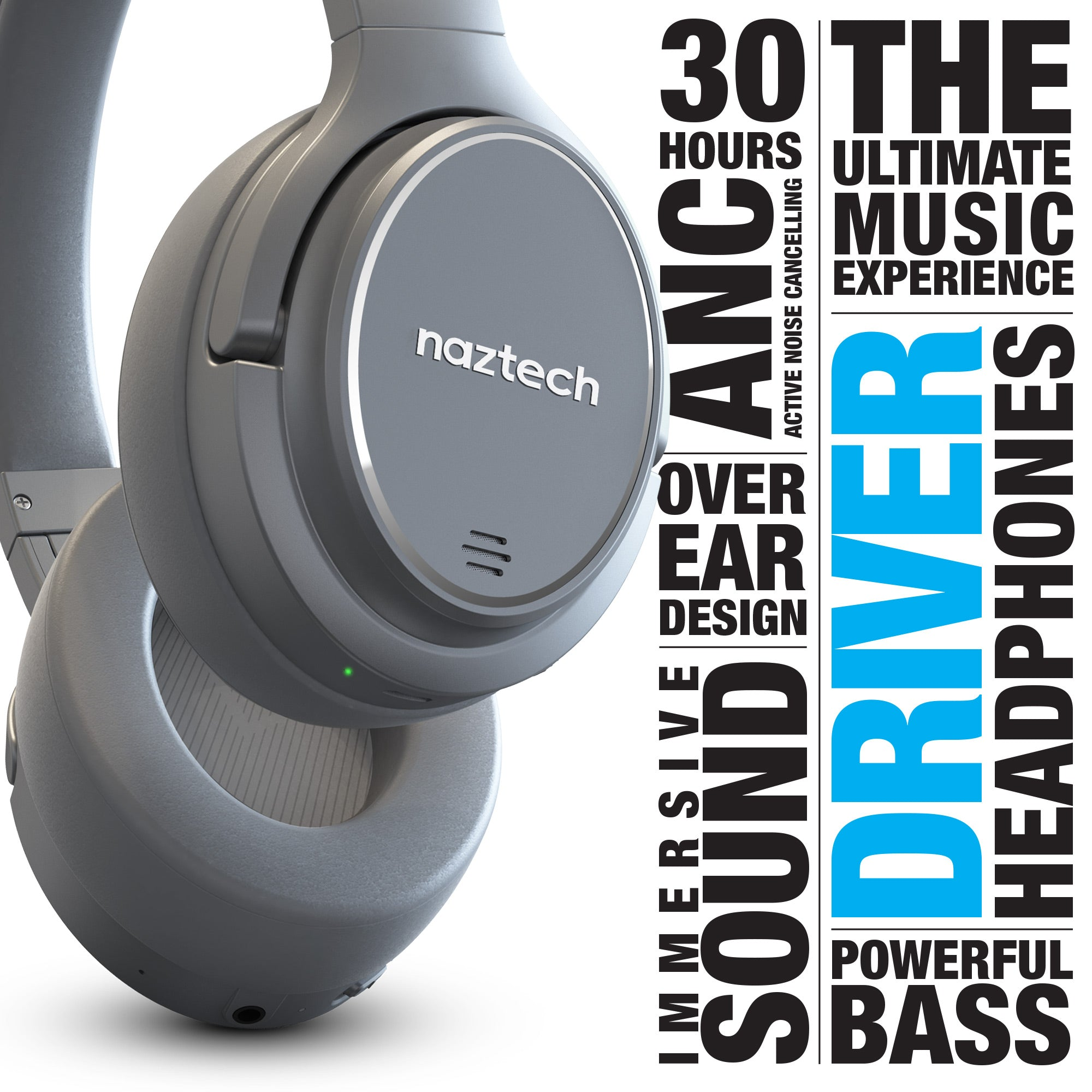 DRIVER ANC1000 Active Noise Cancelling Wireless Headphones
