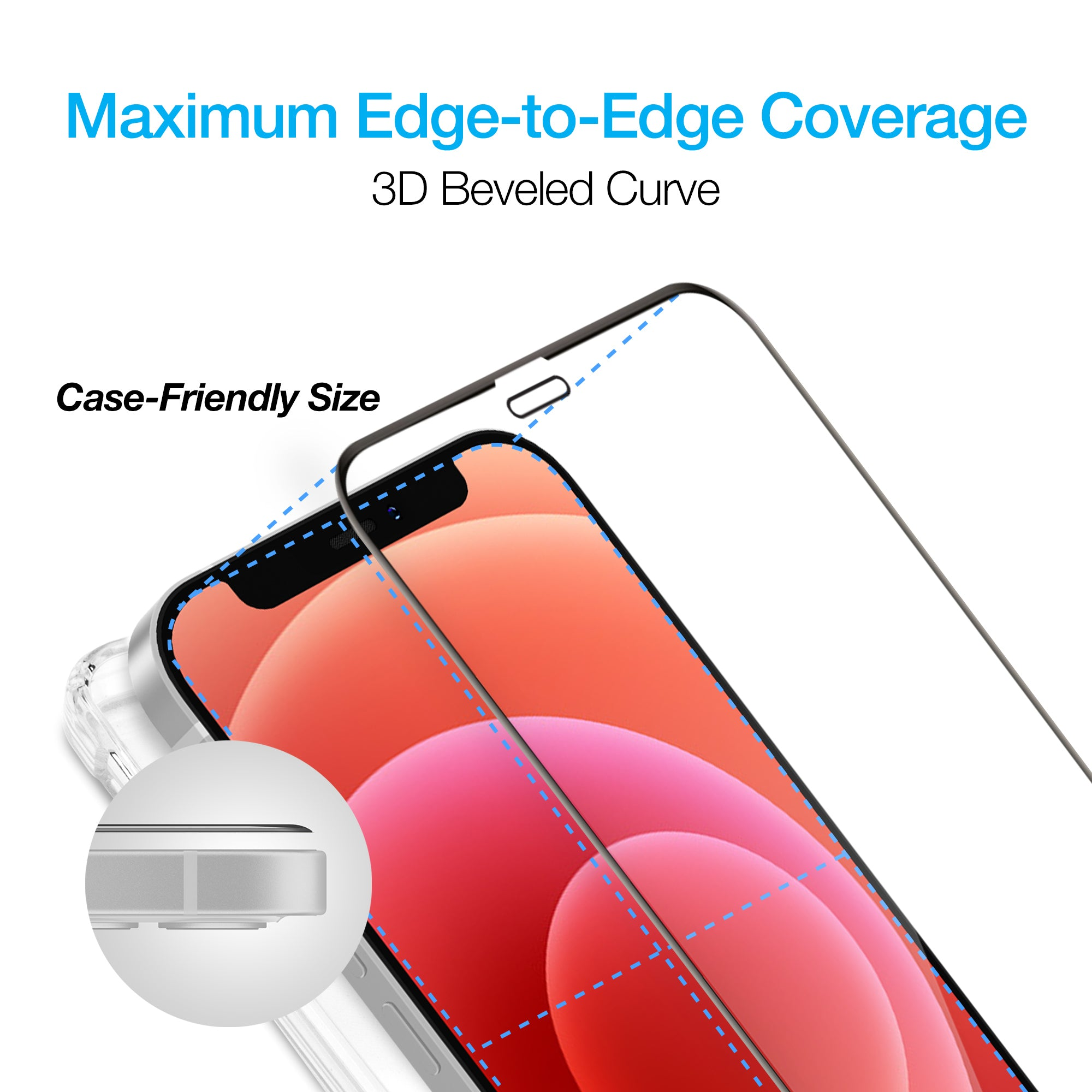 IntelliShield Tempered Glass w/3D Edge for iPhone 12 & 12 Pro