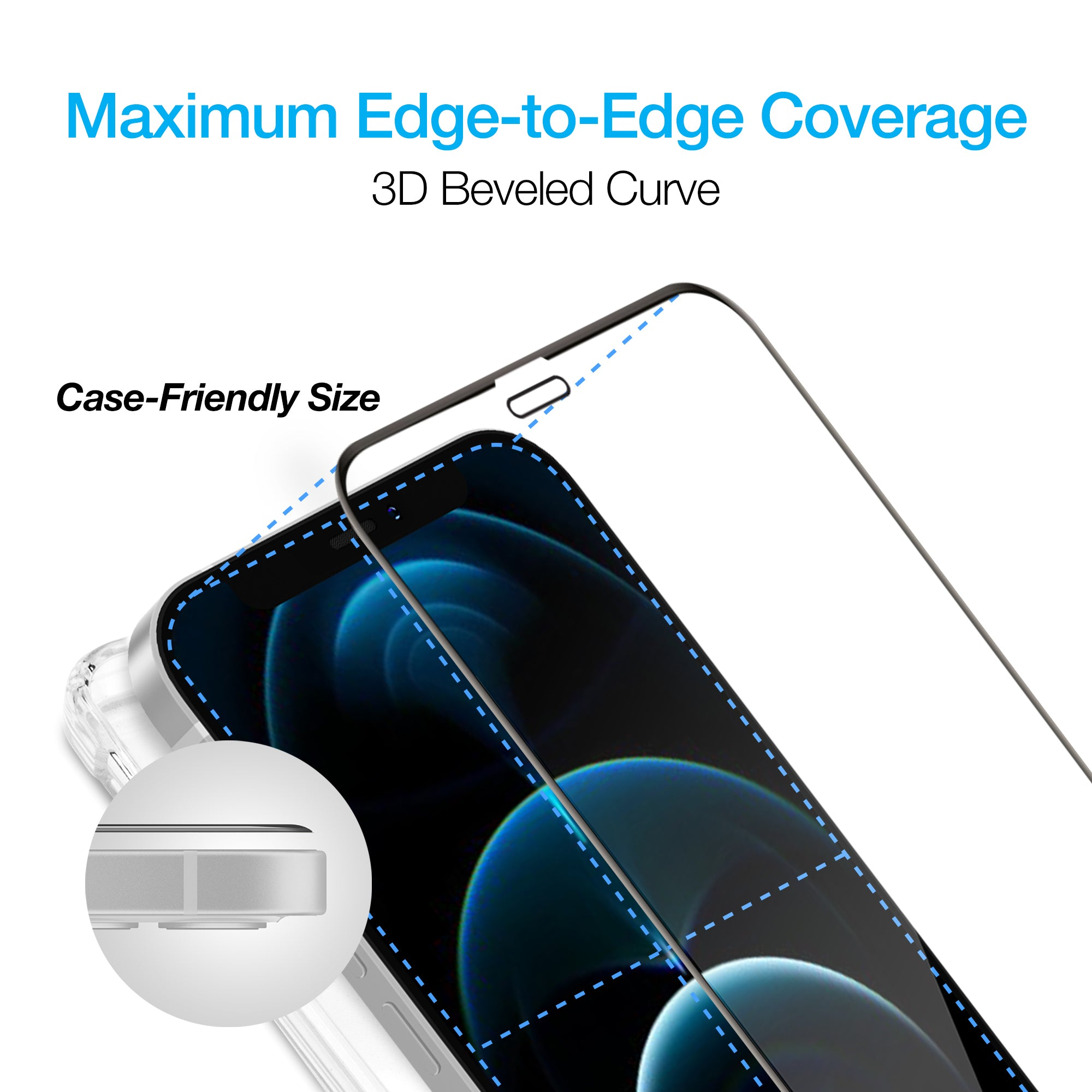 IntelliShield Tempered Glass w/3D Edge for iPhone 12 Pro Max