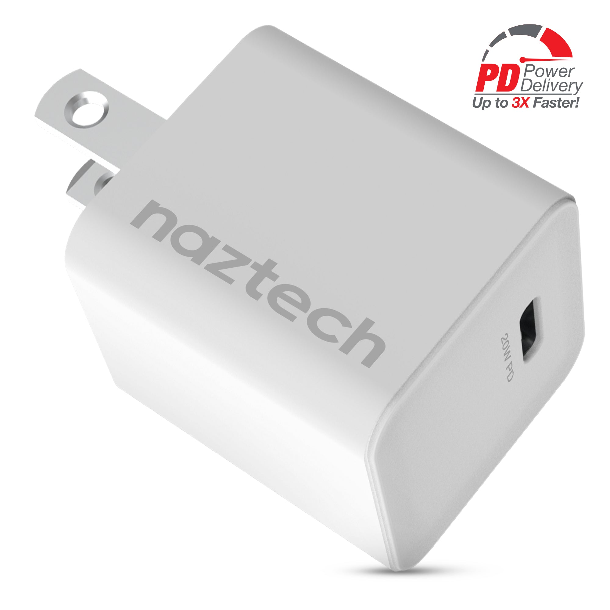 20W USB-C PD mini Fast Wall Charger- White