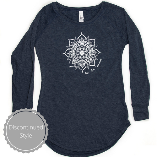 Women's Long Sleeve Tunic Tee - Navy (provides 14 meals)